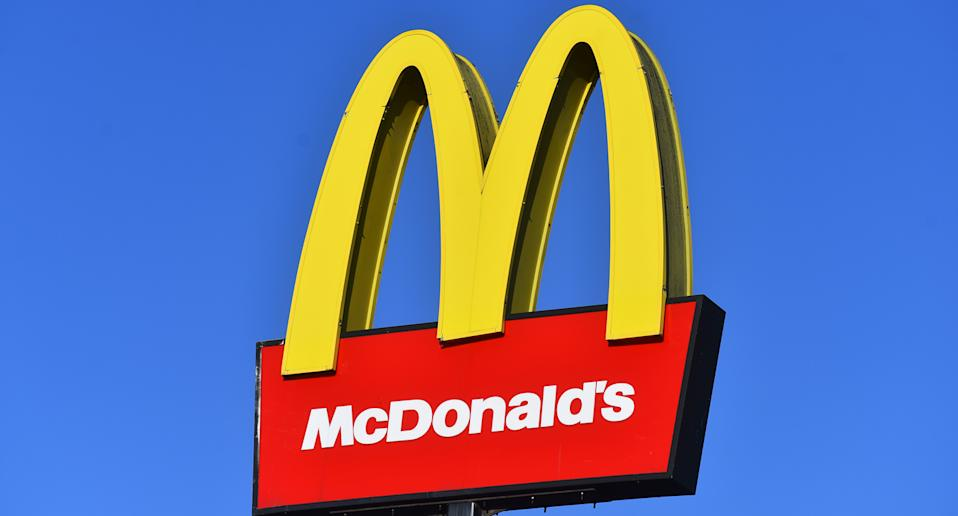 A McDonald's sign is pictured.