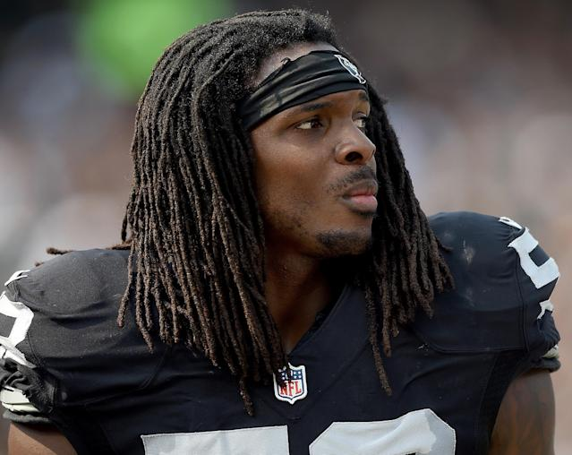 Former Raiders linebacker Neiron Ball is in a medically-induced coma with a brain aneurysm, years after he overcame a rare brain disorder. (Getty)