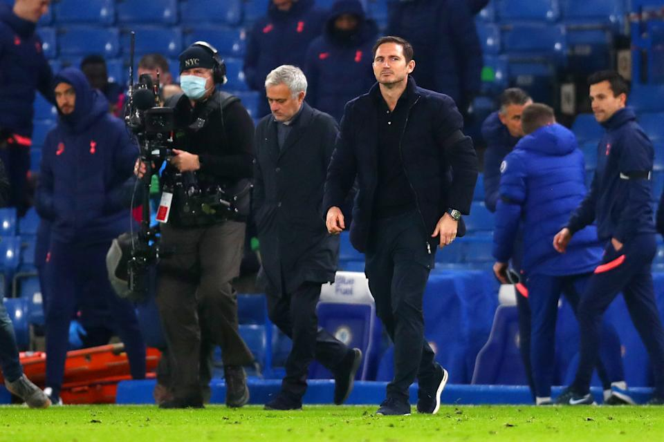 <p>Mourinho and Lampard battled to a stalemate</p>Getty