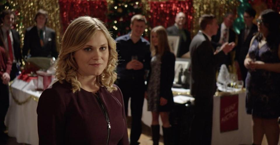 """<p>Ellen, a high-powered and privileged heiress, is set to inherit her father's business. But there's one catch: she has to deliver a Christmas card to his former partner, who has moved to the small town of Snow Falls. When she gets snowed in, she finds herself learning about what really matters.</p> <p>Watch <a href=""""http://www.netflix.com/title/80177441"""" class=""""link rapid-noclick-resp"""" rel=""""nofollow noopener"""" target=""""_blank"""" data-ylk=""""slk:Christmas Inheritance""""><strong>Christmas Inheritance</strong></a> on Netflix now.</p>"""