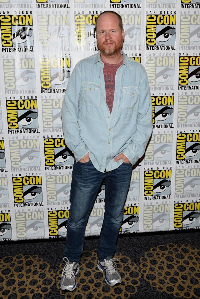 "Executive producer Joss Whedon attends ""Marvel's Agents Of S.H.I.E.L.D."" Press Line during Comic-Con International 2013 at Hilton San Diego Bayfront Hotel on July 19, 2013 in San Diego, California."