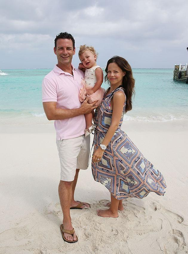 Tammin with husband Sean McEwen and their daughter Phoenix. Source: Getty