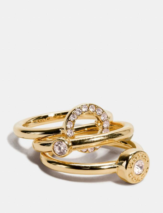 Open Circle Halo Ring Set - Coach Outlet.