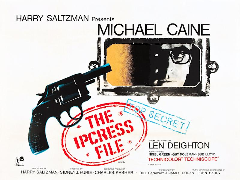 The Ipcress File, poster, Michael Caine, 1965. (Photo by LMPC via Getty Images)