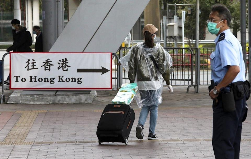 An immigration officer is among the 33 people who have tested initially positive for the coronavirus. Photo: Felix Wong