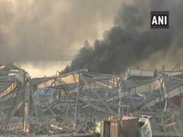 Visuals of the blast at Beirut Port.