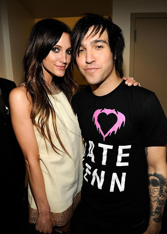 "Ashlee Simpson and hubby Pete Wentz must have hired a sitter for baby Bronx, whose pop was nominated for his UNICEF efforts to provide clean drinking water to kids around the world. Kevin Mazur/<a href=""http://www.wireimage.com"" target=""new"">WireImage.com</a> - July 19, 2010"