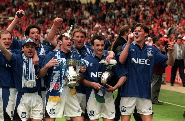 Everton's last piece of silverware was the FA Cup in 1995