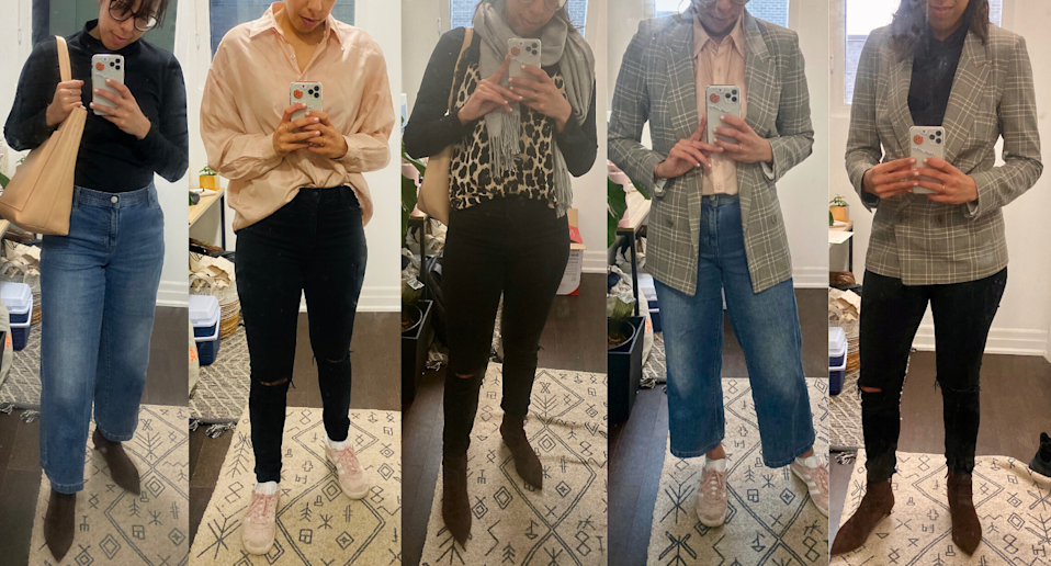 A week of outfits using only ten items.