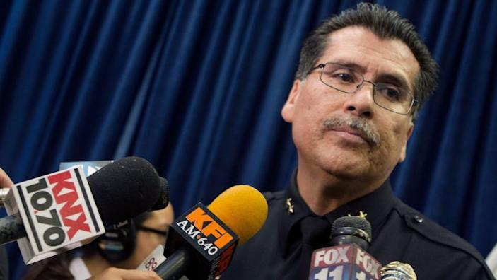 LONG BEACH CA November 11, 2014 - Robert Luna was appointed as the new chief of police for the Long Beach Police Department on November 11, 2014. (Cheryl A. Guerrero/ Los Angeles Times)
