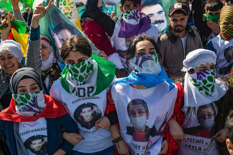 There have been a series of protests in solidarity with the hunger strikers (AFP Photo/Yasin AKGUL)