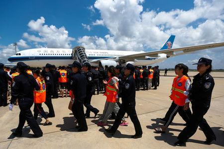 63 Chinese, Taiwanese Deported from Cambodia Over Alleged
