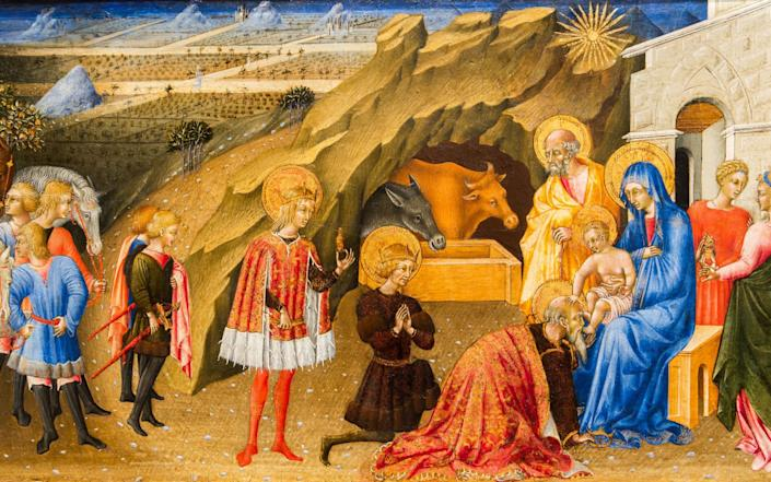 The Adoration of the Magi, 1450 by Giovanni di Paolo depicts the Star of Bethlehem - Alamy