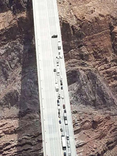PHOTO: In June 2018, Matthew Wright blocked a bridge near the Hoover Dam in an armored truck (Arizona Department of Public Safety)