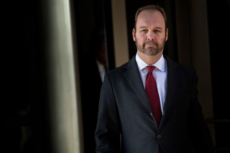 Rick Gates leaves the Federal Court on Dec. 11, 2017 in Washington, DC.