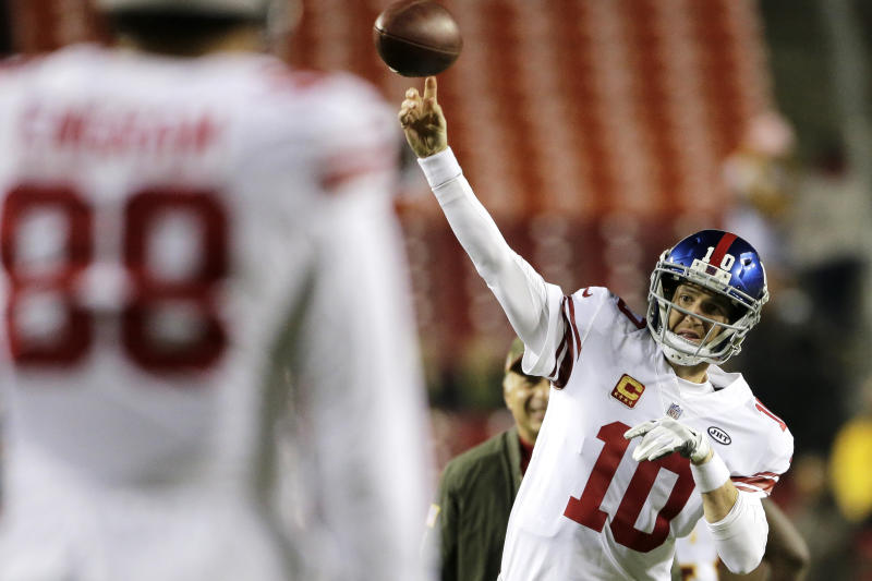 Eli Manning has a vocal supporter in Mike Francesca. (AP)