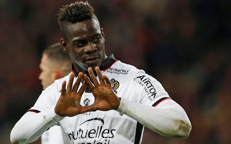 Nice's Mario Balotelli reacts after scoring. REUTERS/Pascal Rossignol - Credit: PASCAL ROSSIGNOL/REUTERS