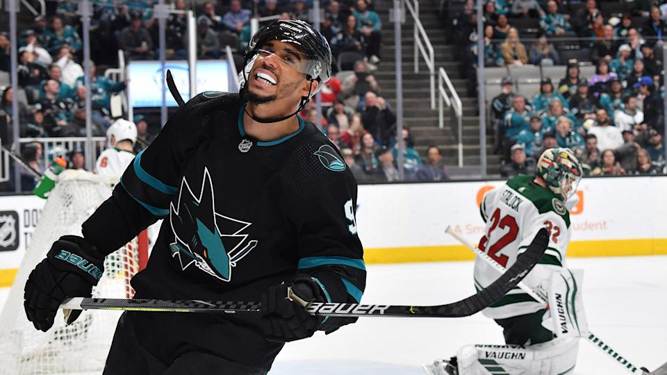Evander Kane has filed for bankruptcy in California. (Photo by Brandon Magnus/NHLI via Getty Images)