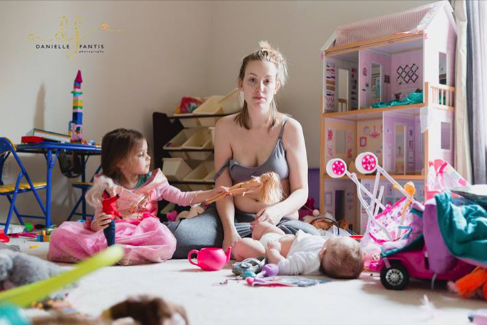 This mom's viral photo shows what it's actually like living with postpartum depression