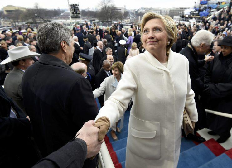 Hillary Clinton at President Trump's inauguration. (Photo: Saul Loeb/Reuters)