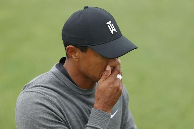 Tiger Woods wasn't having a great Friday at the U.S. Open. (Getty)
