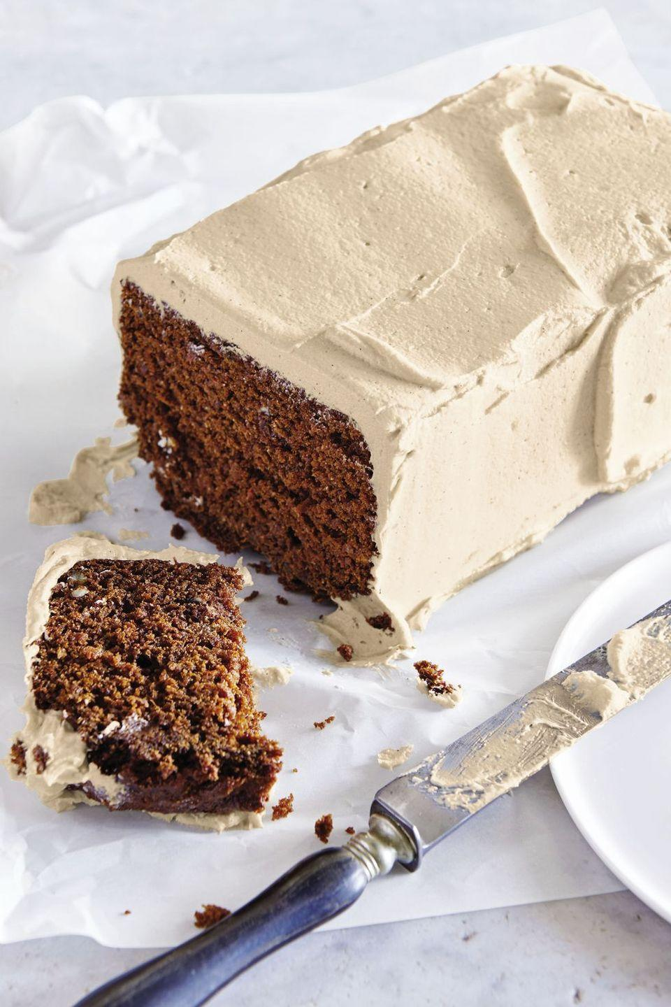 """<p>For everyone dressing up like a villain this year, rule-breaking carrot cake (with whole-wheat flour and brown sugar!) is the devilish dessert for you.</p><p><em><a href=""""https://www.goodhousekeeping.com/food-recipes/dessert/a40367/outlaw-carrot-cake-with-brown-sugar-butter-cream-recipe/"""" rel=""""nofollow noopener"""" target=""""_blank"""" data-ylk=""""slk:Get the recipe for Outlaw Carrot Cake with Brown Sugar Butter Cream »"""" class=""""link rapid-noclick-resp"""">Get the recipe for Outlaw Carrot Cake with Brown Sugar Butter Cream »</a></em></p><p><strong>RELATED: </strong><a href=""""https://www.goodhousekeeping.com/food-recipes/dessert/g850/easy-carrot-desserts/"""" rel=""""nofollow noopener"""" target=""""_blank"""" data-ylk=""""slk:25 Easy Carrot Desserts You've Got to Try This Easter"""" class=""""link rapid-noclick-resp"""">25 Easy Carrot Desserts You've Got to Try This Easter</a><br></p>"""