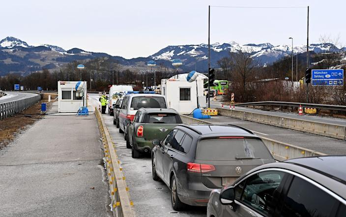 Drivers seeking to enter Germany from the Austrian province of Tyrol - Lennart Preiss/Getty Images Europe