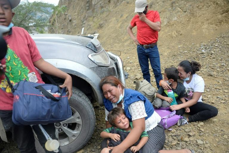According to Guatemalan migration authorities, some 3,500 people in the caravan have already been returned to Honduras, several hundred children among them