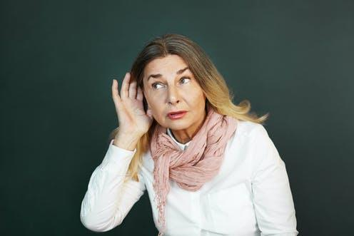 """<span class=""""attribution""""><a class=""""link rapid-noclick-resp"""" href=""""https://www.shutterstock.com/image-photo/frustrated-elderly-woman-suffering-deafness-trying-748946563"""" rel=""""nofollow noopener"""" target=""""_blank"""" data-ylk=""""slk:shurkin son/Shutterstock"""">shurkin son/Shutterstock</a></span>"""