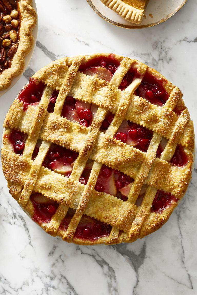 "<p>Doesn't this look straight out of an old movie? Don't worry, the criss-crossing dough pattern is a lot easier to make than it looks.</p><p><a href=""https://www.goodhousekeeping.com/food-recipes/dessert/a46629/cranberry-pear-lattice-pie-recipe/"" rel=""nofollow noopener"" target=""_blank"" data-ylk=""slk:Get the recipe for Cranberry-Pear Lattice Pie »"" class=""link rapid-noclick-resp""><em>Get the recipe for </em><em>Cranberry-Pear Lattice Pie</em> <strong>»</strong></a></p><p><strong>RELATED:</strong> <a href=""https://www.goodhousekeeping.com/food-recipes/dessert/g822/pie-recipes/"" rel=""nofollow noopener"" target=""_blank"" data-ylk=""slk:35 Delicious Pie Recipes Anyone Can Make"" class=""link rapid-noclick-resp"">35 Delicious Pie Recipes Anyone Can Make</a><br></p>"