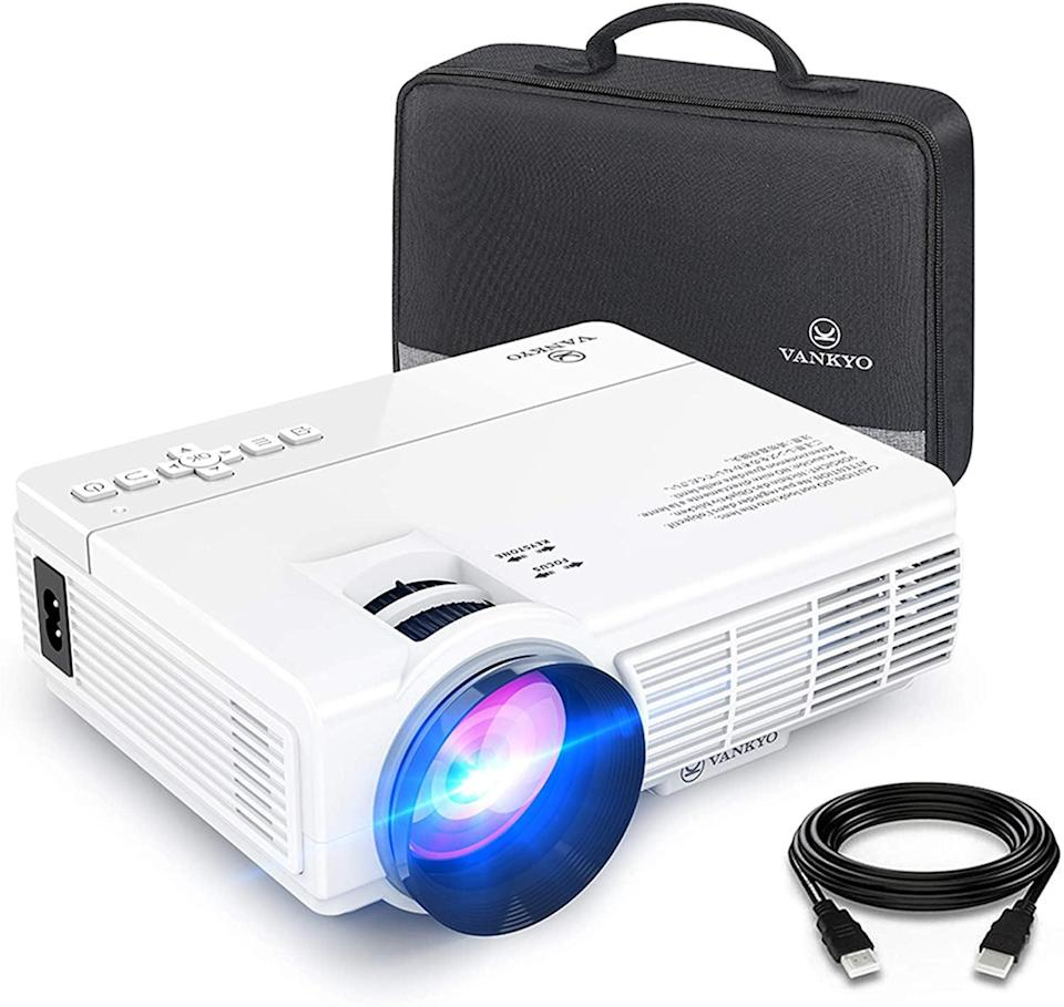 <p>Easily connect your gaming consoles, HDMI streaming sticks, laptops, smartphones, and external audio to the <span>Vankyo Leisure 3 Mini Projector</span> ($100). The LED light creates a bright and vivid picture. It provides a watching size from 32-176 inches. </p>