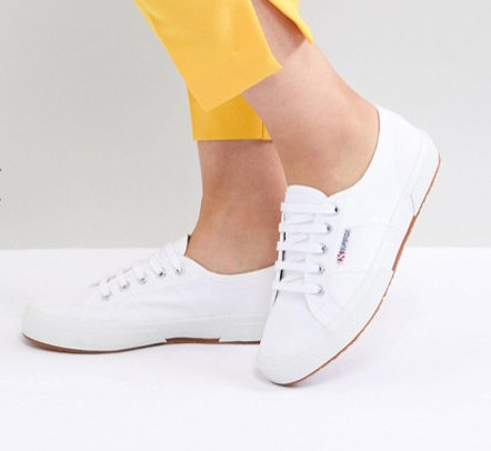 Superga 2750 classic canvas trainers in white