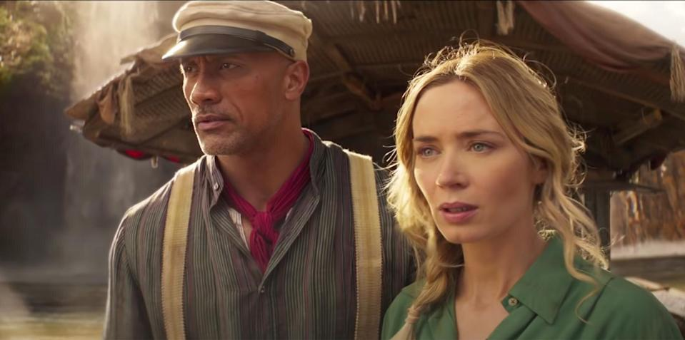 Dwayne Johnson and Emily Blunt in