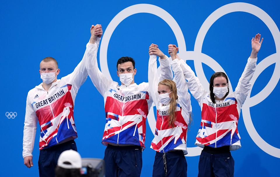 Adam Peaty, James Guy, Anna Hopkin and Kathleen Dawson delivered in the pool (Adam Davy/PA) (PA Wire)