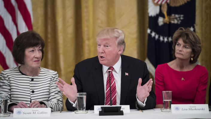 President Trump speaks as he meets with Republican senators about health care in the East Room of the White House on June 27, 2017. (Photo: Jabin Botsford/The Washington Post via Getty Images)