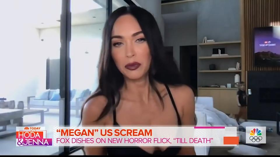 <p>Megan Fox found herself being upstaged by her camera-shy children during a recent interview when they crawled past her in the background. The Transformers star was appearing on Today with Hoda and Jenna to promote her new film Till Death when her youngsters appeared in the background much to everyone's amusement.</p>