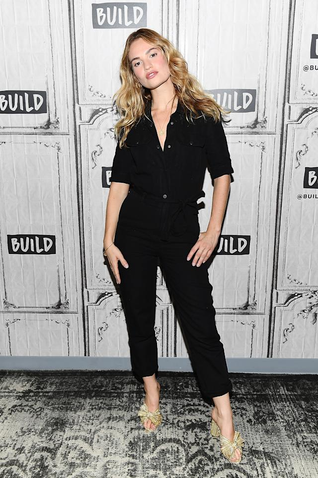 <p>On 19 July, 'Mamma Mia: Here We Go Again!' star Lily James donned a jumpsuit for a photocall in New York <em>[Photo: Getty]</em> </p>