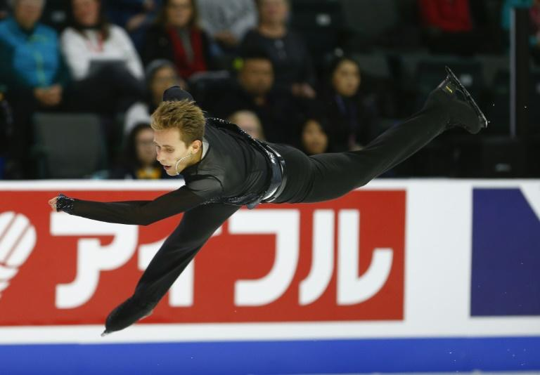 Michal Brezina of the Czech Republic competes in the Men's Free Skate at Skate America to take silver with a total score of 239.51