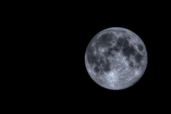 This photo of the August 2012 blue moon was taken by Johan Clausen in Denmark.
