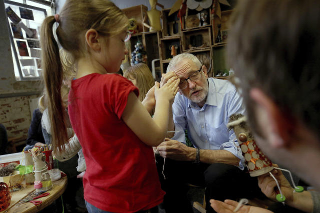 "The Labour leader, here on the General Election campaign trail in Leeds, said he was ""looking into"" the claims. (PA/AP)"