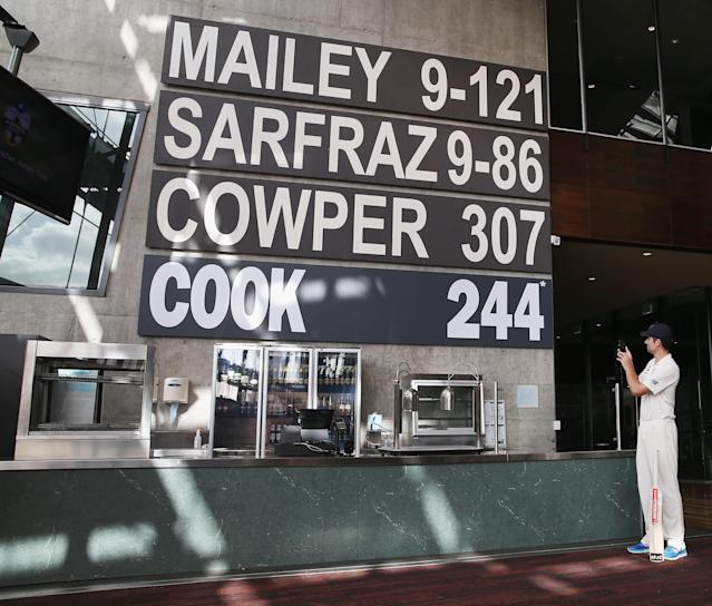 <p>England struggled again in Australia, yet Cook still found time to break another record. His 244*was the highest score by a foreign batsman at the MCG. A timely reminder to the Aussies just how good he was. (Getty Images) </p>