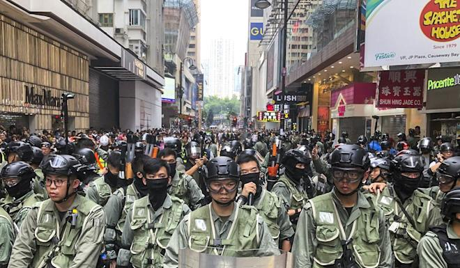 Hong Kong has been rocked by four months of protest violence. Photo: Sam Tsang