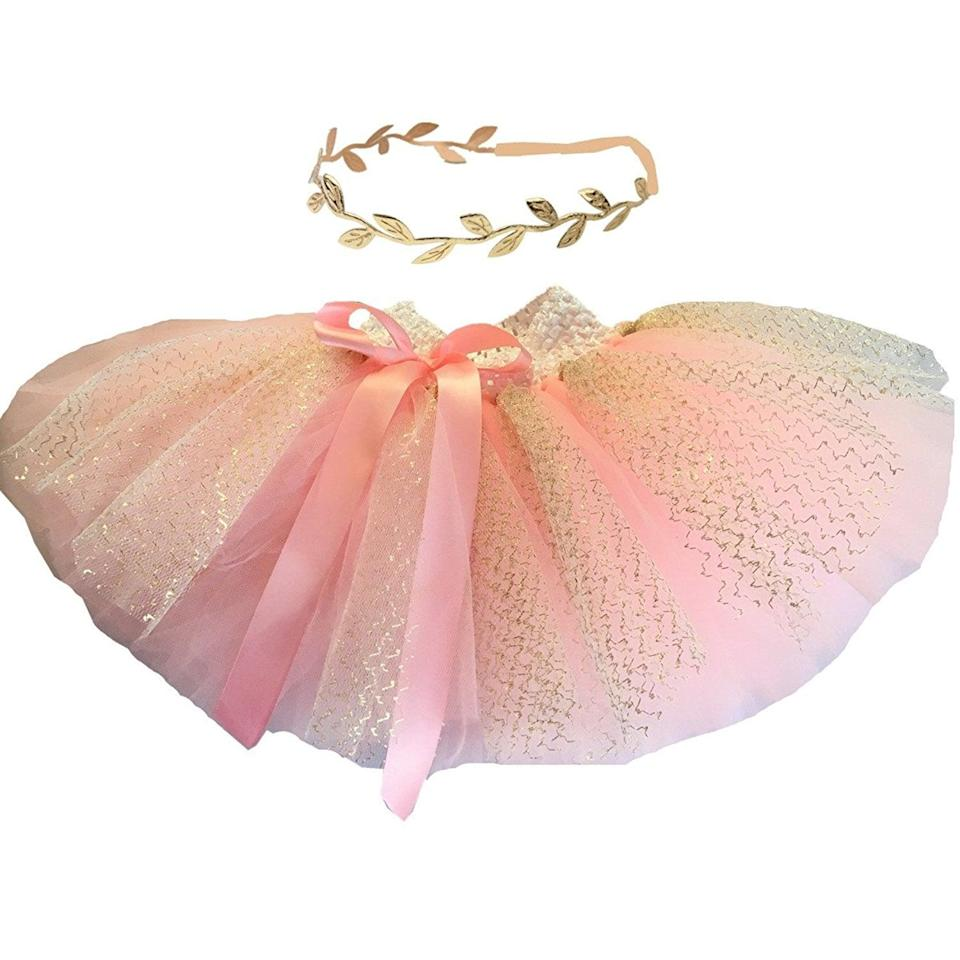 <p>This <span>Hello Baby Pink Tutu Skirt and Headband</span> ($16) is too cute to handle.</p>