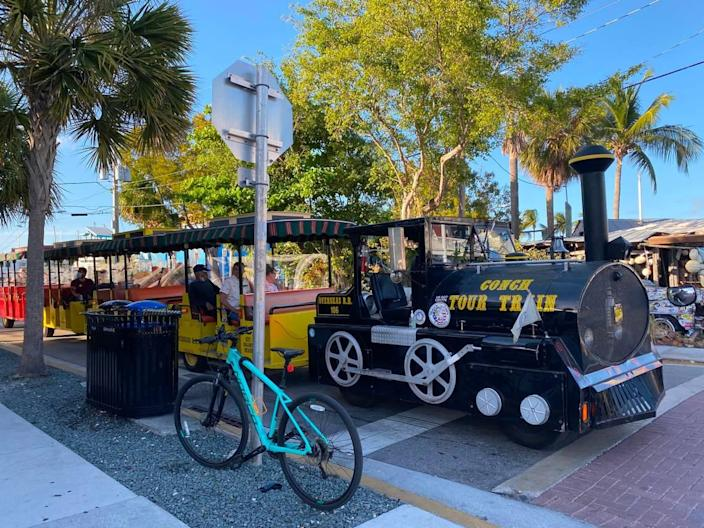 The Conch Train Tour is a popular sightseeing attraction in Key West.