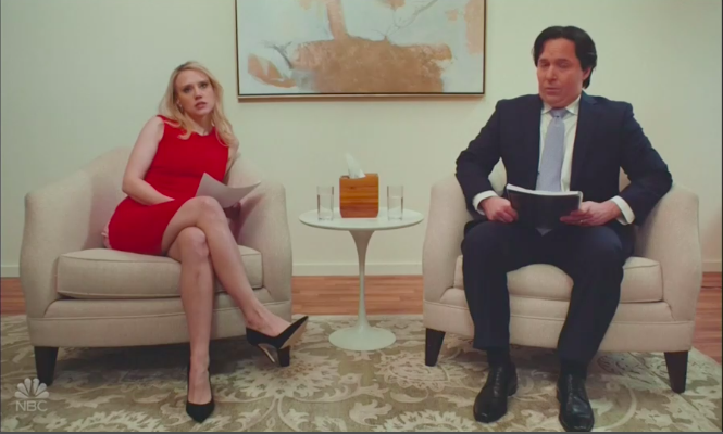 'SNL': Scarlett Johansson-Hosted Episode Parodies 'Marriage Story' With Kellyanne & George Conway
