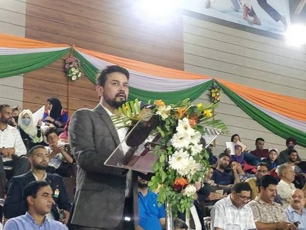 Union Youth Affairs and Sports Minister Anurag Singh Thakur in Jammu and Kashmir (Photo/PIB)