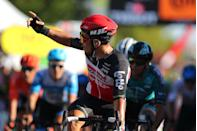 """<p><strong>Who's Winning the Tour?</strong></p><p>With a flat, short course and light winds mostly from behind, the expectation was Stage 11 could be among the fastest of this year's race. Instead, it was a decidedly more stately affair, thanks to the fact that no one really wanted to try a breakaway except Groupama-FDJ's Matthieu Ladagnous, who spent a good chunk of the stage out front alone as the pack soft-pedaled to delay the catch. Once it was finally made, the stage was set for a sprint finish, and on a slightly uphill finale Lotto-Soudal's Caleb Ewan nudged out Peter Sagan (BORA-Hansgrohe) and green jersey wearer Sam Bennett (Deceuninck-Quick Step) for his second victory of this year's Tour. And we say """"nudged out"""" in the literal sense, as there was plenty of contact in the final 100 meters; thankfully no one crashed. </p><p>But Sagan was relegated to last place in the group for pushing past Jumbo-Visma's Wout van Aert. That's significant because it means he doesn't get the sprint points for his finish, which are crucial to his fight in the best sprinter competition. Bennett now has a sizable lead there with 243 points to Sagan's 175. With only three possible sprint finishes left in the Tour, that margin could be enough to deny Sagan an eighth green jersey.</p><p>The yellow jersey stayed with Primoz Roglič and his Jumbo-Visma team, which had zero trouble keeping him in the race lead and essentially got a day off as sprinters' teams did much of the work at the front.</p><p><strong>Who's <em>Really</em> Winning the Tour?</strong></p><p>There was, unsurprisingly, no change to the top 10 overall classification today, and that likely will be the case until Friday at the earliest. But there were still a few events of note. UAE-Emirates Davide Formolo didn't start today due to crash injuries on Stage 10. Together with Fabio Aru's dropout, that leaves wunderkind Stage 9 winner Tadej Pogačar awfully thin on support for the mountains. A little further down the standing"""