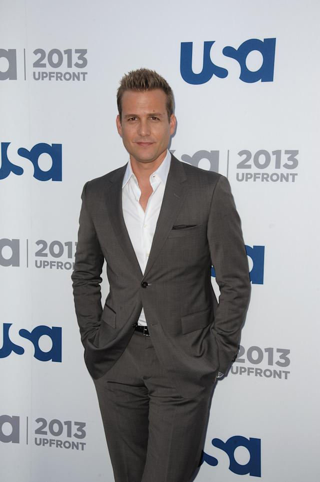 NEW YORK, NY - MAY 16: Gabriel Macht attends USA Network 2013 Upfront Event at Pier 36 on May 16, 2013 in New York City. (Photo by Dave Kotinsky/Getty Images)