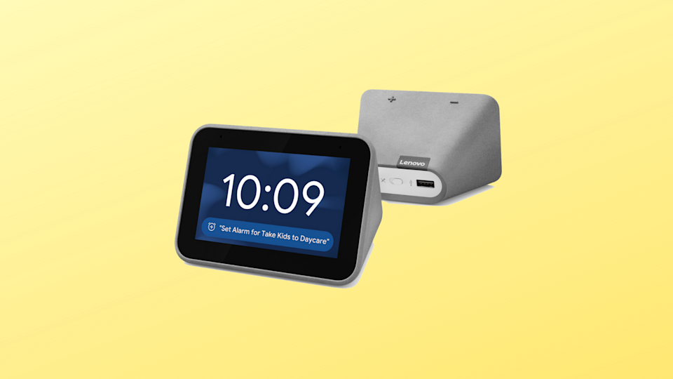 This Lenovo Smart Clock is half-off for Black Friday! (Photo: Walmart/Yahoo Lifestyle)