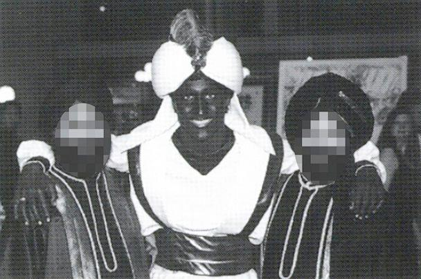 PHOTO: This April 2001 photo, which appeared in a newsletter from the West Point Grey Academy, shows a costumed Justin Trudeau attending an 'Arabian Nights' gala. (West Point Grey Academy/The Canadian Press via AP)
